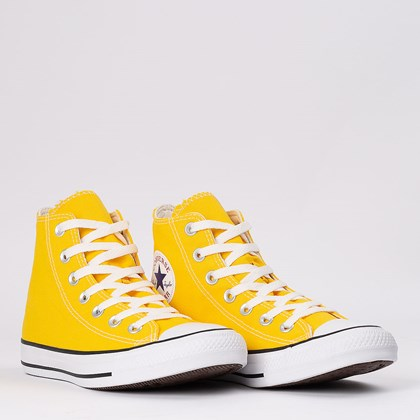 Tênis Converse Chuck Taylor All Star Seasonal Hi Amarelo Preto CT04190052
