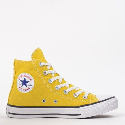 Tênis Converse Chuck Taylor All Star Seasonal Hi Amarelo Vivo CT04190034