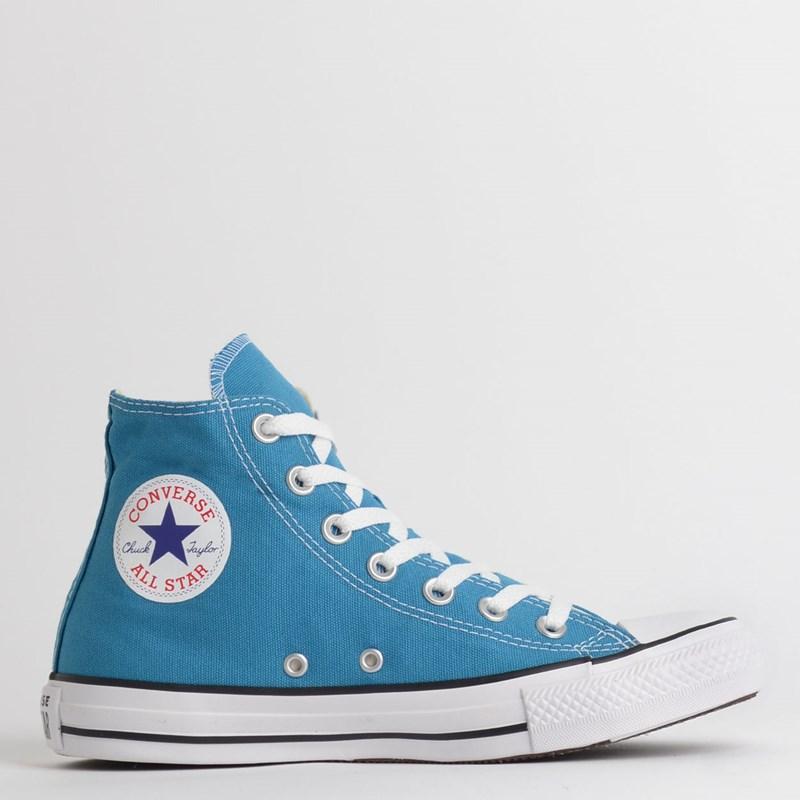 Tênis Converse Chuck Taylor All Star Seasonal Hi Azul Acido CT04190036