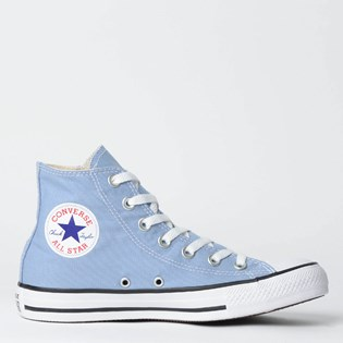 Tênis Converse Chuck Taylor All Star Seasonal Hi Azul Aco Preto CT04190030