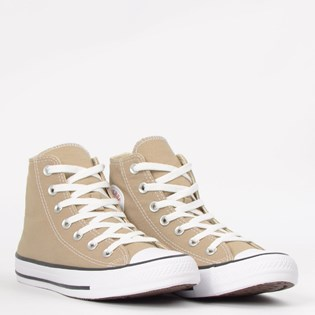 Tênis Converse Chuck Taylor All Star Seasonal Hi Caqui Preto Branco CT04190039