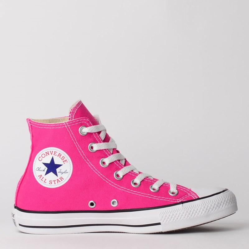 Tênis Converse Chuck Taylor All Star Seasonal Hi Pink Fluor CT04190033