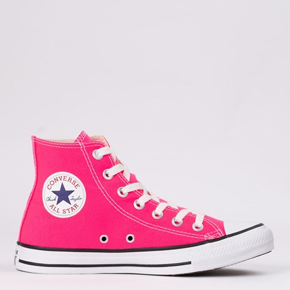 Tênis Converse Chuck Taylor All Star Seasonal Hi Rosa Choque CT04190012