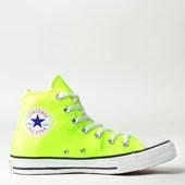Tênis Converse Chuck Taylor All Star Seasonal Hi Verde Fluor CT04190021