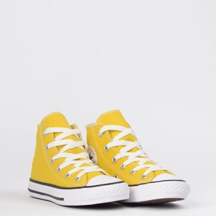 Tênis Converse Chuck Taylor All Star Seasonal Kids Hi Amarelo Vivo CK04280022