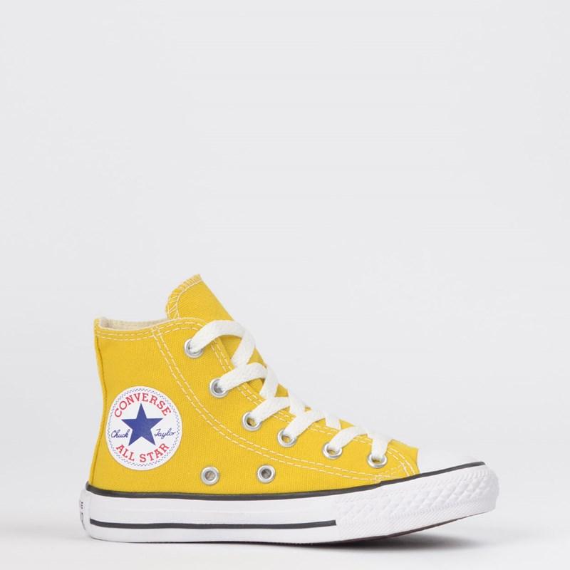 Tênis Converse Chuck Taylor All Star Seasonal Kids Hi Amarelo Vivo CK04280022