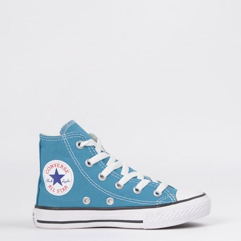 Tênis Converse Chuck Taylor All Star Seasonal Kids Hi Azul Acido CK04280020