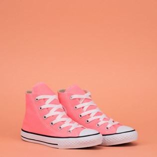 Tênis Converse Chuck Taylor All Star Seasonal Kids Hi Rosa Fluor CK04280019