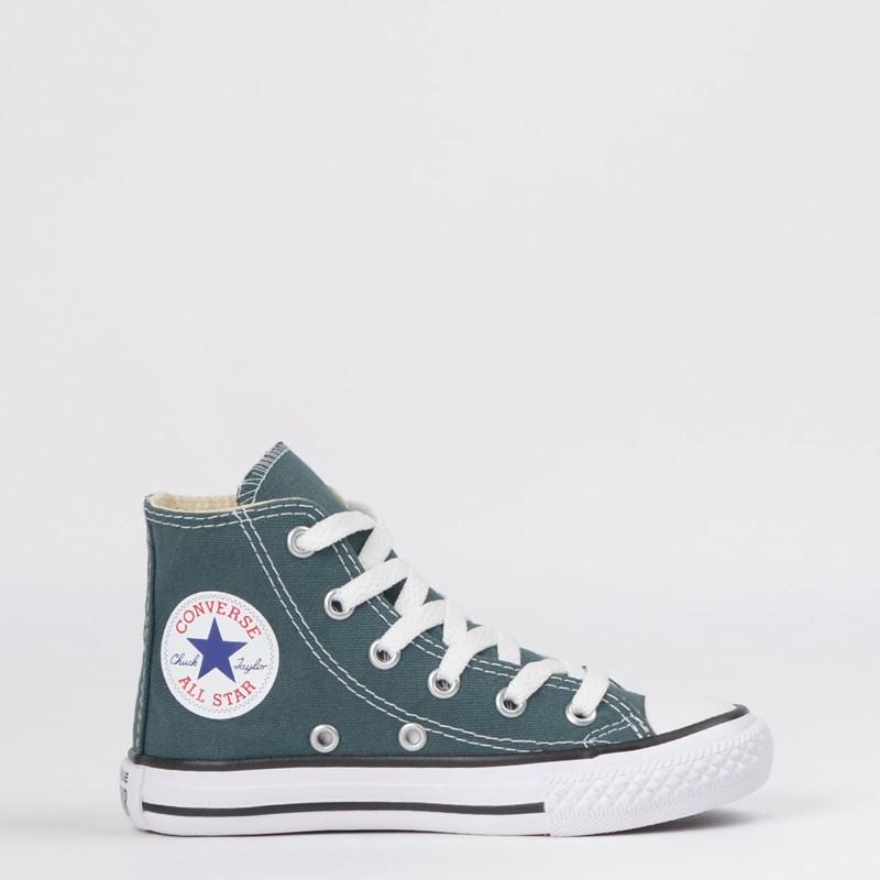 Tênis Converse Chuck Taylor All Star Seasonal Kids Hi Verde Escuro Preto CK04280021