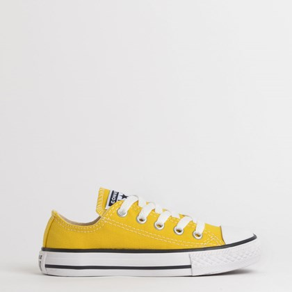 Tênis Converse Chuck Taylor All Star Seasonal Kids Ox Amarelo Vivo CK04300022