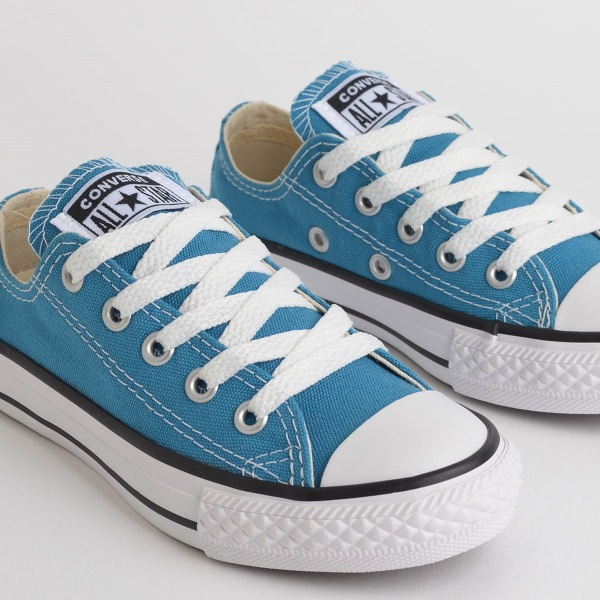 Tênis Converse Chuck Taylor All Star Seasonal Kids Ox Azul Acido CK04300020