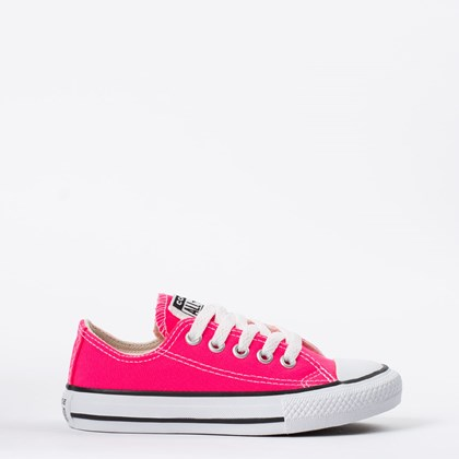 Tênis Converse Chuck Taylor All Star Seasonal Kids Ox Rosa Choque CK04300031