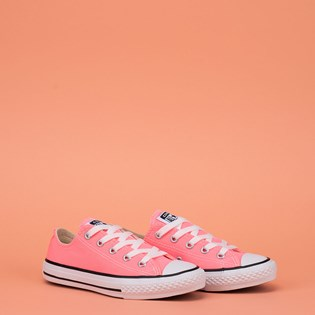 Tênis Converse Chuck Taylor All Star Seasonal Kids Ox Rosa Fluor CK04300019