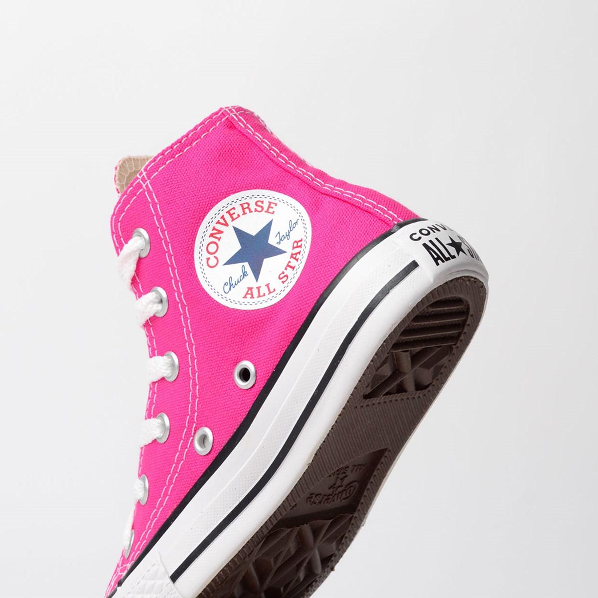 Tênis Converse Chuck Taylor All Star Seasonal Kids Pink Fluor CK04280018