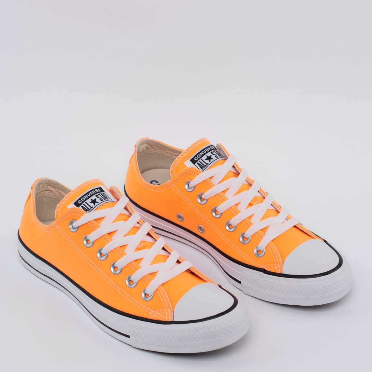 Tênis Converse Chuck Taylor All Star Seasonal Ox Laranja Fluor Preto CT04200041