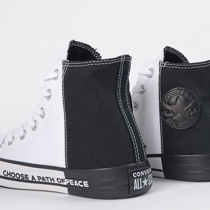 Tênis Converse Chuck Taylor All Star Seek Peace Branco Preto CT14380001