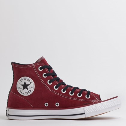 Tênis Converse Chuck Taylor All Star SKT Hi Bordo Preto Branco CT14260003