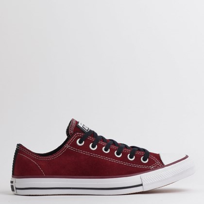 Tênis Converse Chuck Taylor All Star SKT Ox Bordo Preto Branco CT14270003