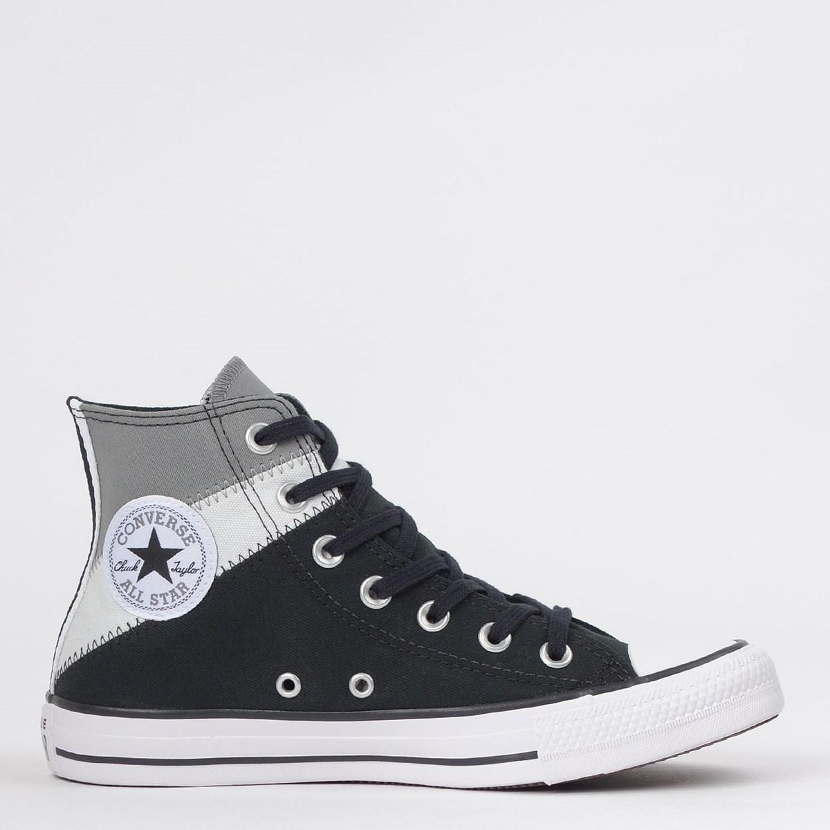 Tênis Converse Chuck Taylor All Star Tri Split Hi Aluminio Cinza Claro CT13060001