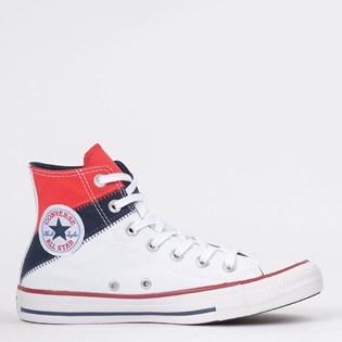 Tênis Converse Chuck Taylor All Star Tri Split Hi Vermelho Marinho Escuro CT13060002
