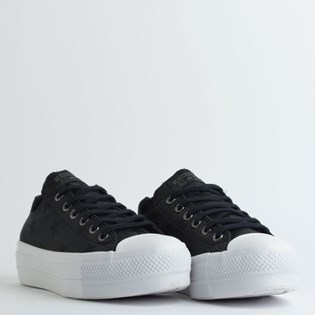Tênis Converse Chuck Taylor All Star Twisted Archive Platform Lift Ox Preto Branco CT13720001