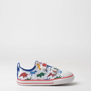 Tênis Converse Kids Chuck Taylor All Star 2V Ox Branco Royal CK07240001