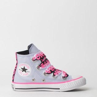 Tênis Converse Kids Chuck Taylor All Star Big Eyelet Hi Lavanda CK07640002