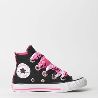 Tênis Converse Kids Chuck Taylor All Star Big Eyelet Hi Preto CK07640001