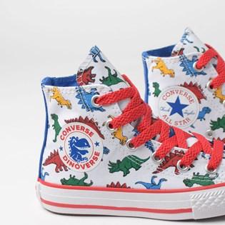 Tênis Converse Kids Chuck Taylor All Star Hi Branco Royal CK07230001