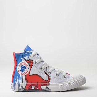 Tênis Converse Kids Chuck Taylor All Star Hi Branco Vermelho CK07220001