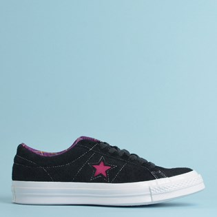 Tênis Converse One Star Ox Black White Rose Maroon 166847C