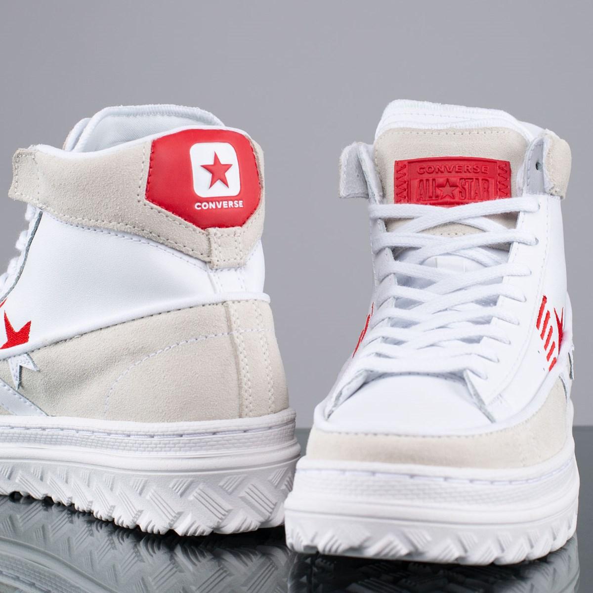 Tênis Converse Pro Leather X2 Rivals Hi Egret White University Red 168761C