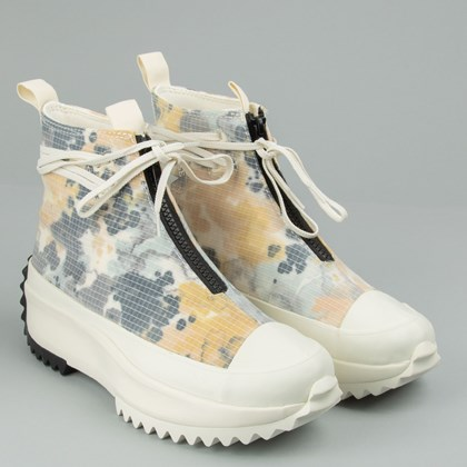 Tênis Converse Run Star Hike Hi Washed Florals Egret White Black 170776C