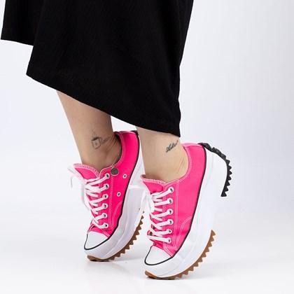 Tênis Converse Run Star Hike Ox Canvas Color Hyper Pink White Gum 170442C