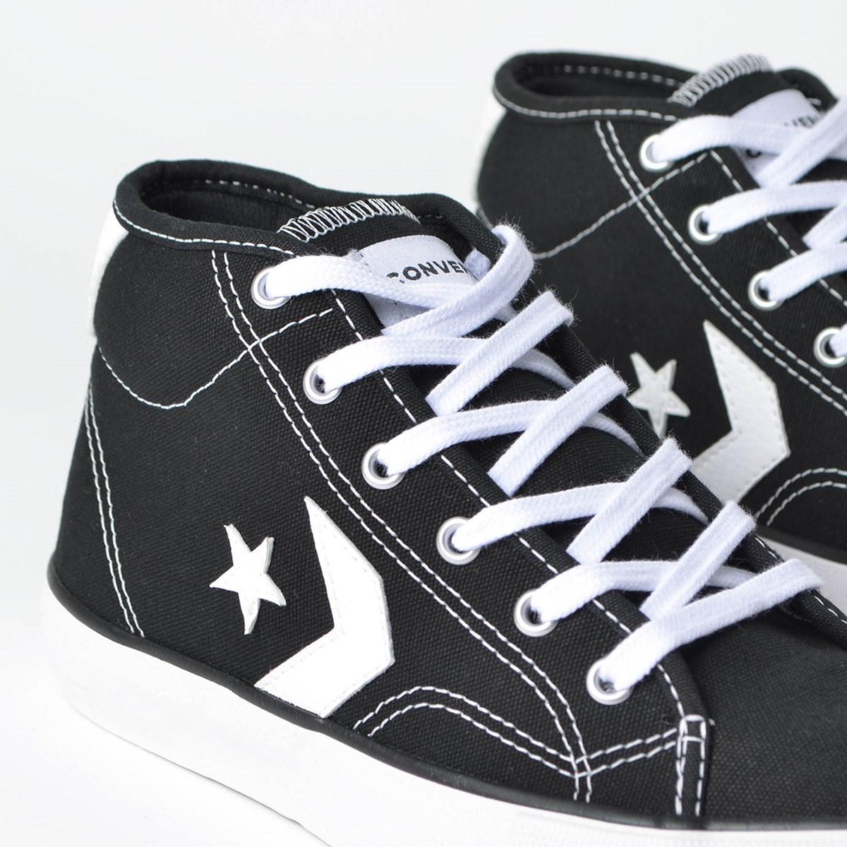 Tênis Converse Star Replay Mid Preto Branco CO02530001