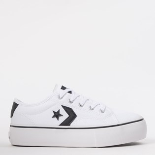 Tênis Converse Star Replay Platform Ox Branco Preto CO02800002