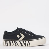 Tênis Converse Star Replay Platform Ox Preto Preto Amendoa CO02810002