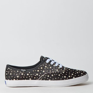 Tênis Keds Champion Animal Print Preto Branco KD178143