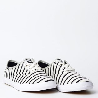 Tênis Keds Champion Stripes Lurex Prata KD1360066