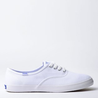 Tênis Keds Champion Woman Canvas Branco Branco KD100256