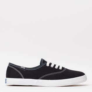 Tênis Keds Champion Woman Canvas Preto Branco KD100143