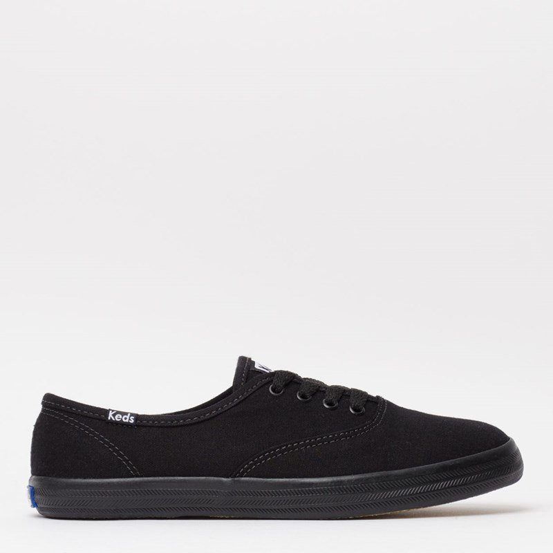 56bee6685f Tênis Keds Champion Woman Canvas Preto Preto KD100231 - Loja Virus