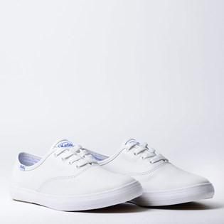 Tênis Keds Champion Woman Leather Branco Branco KD102256