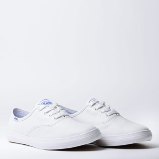 Tênis Keds Champion Woman Leather Branco Branco KD102256