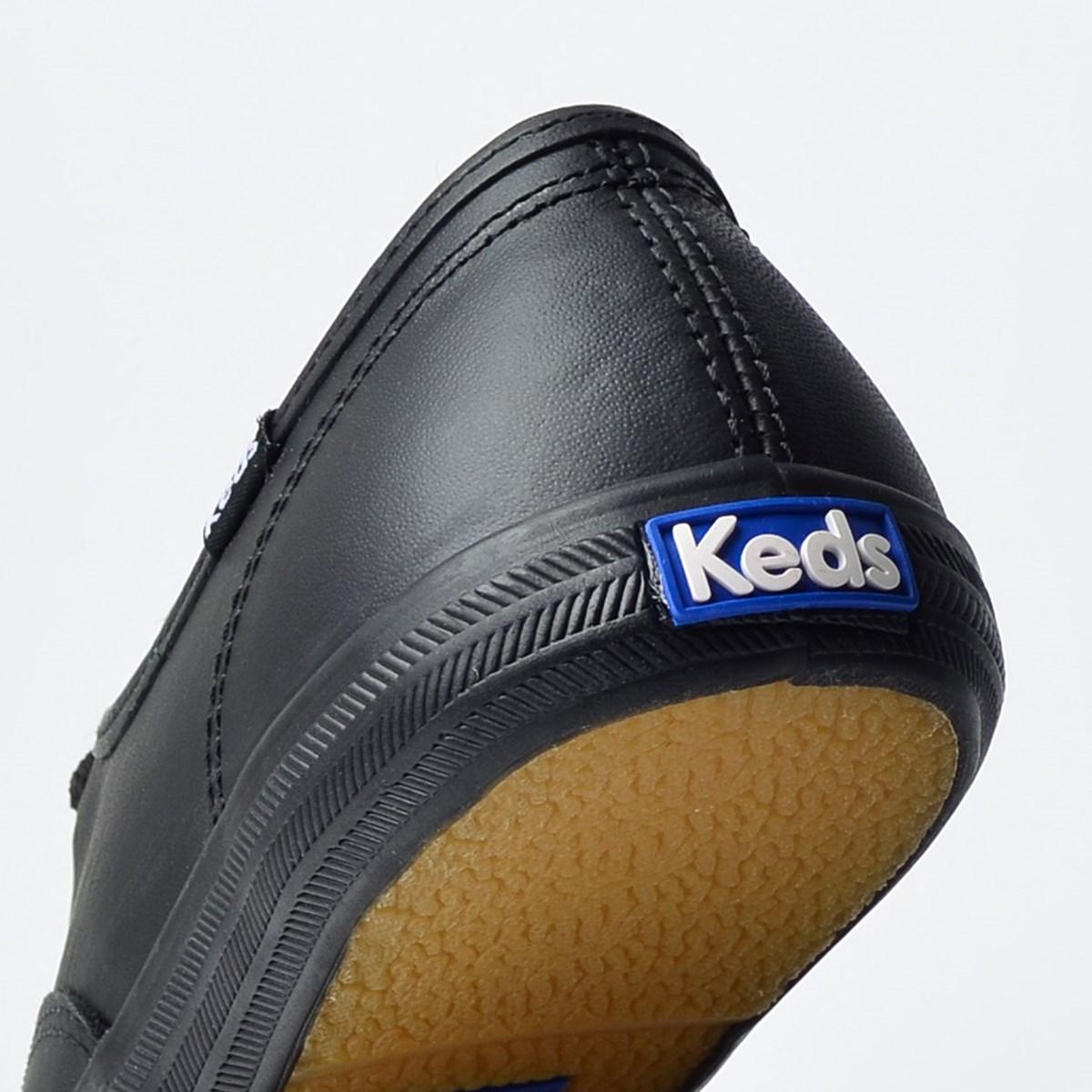Tênis Keds Champion Woman Leather Preto Preto KD102231