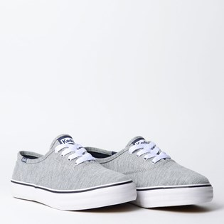 Tênis Keds Double Dutch Jersey Cinza KD375016