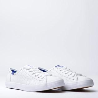 Tênis Keds Kickstart Perf Leather Branco Blue KD810921