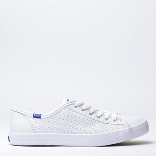 Tênis Keds Kickstart Perf Leather Branco Blue KD810921