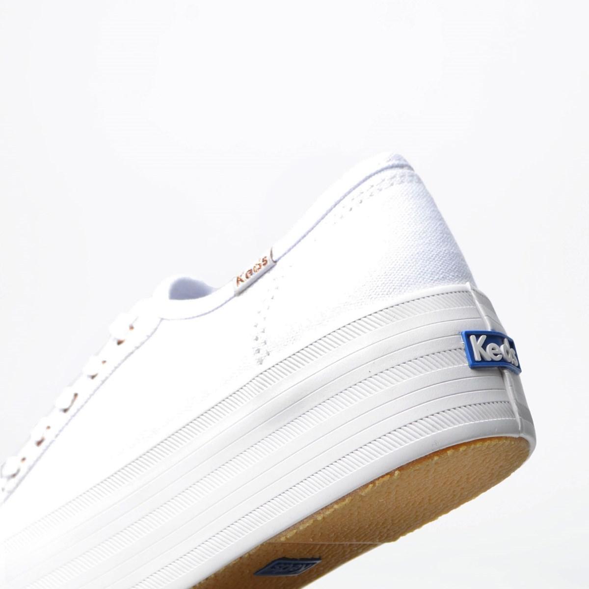 Tênis Keds Plataform Kick Canvas Branco KD1377002