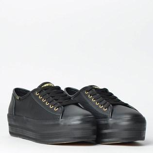 Tênis Keds Plataform Kick Perf Leather Preto KD1402001